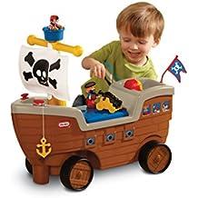 Little Tikes 622113M - Nave dei pirati, Giocattolo cavalcabile con contenitore per giocattoli