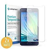 smartect Protector de Pantalla Mate para Samsung Galaxy A3 2015 [2X Mate] - 9H Cristal Templado - Diseño Ultrafino - Instalación Sin Burbujas - Tempered Glass Anti-Huellas
