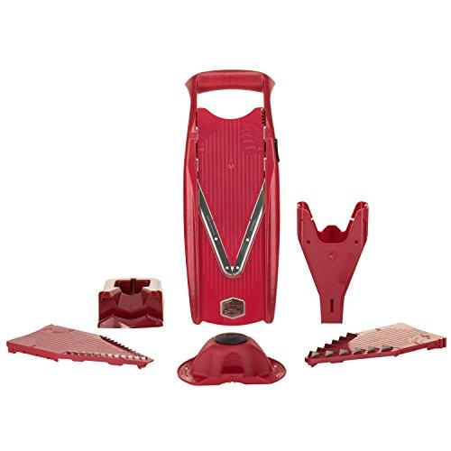 Börner V5 V-Hobel Profi Set rot, Gemüsereibe, Küchenhobel für - Klingen Borner