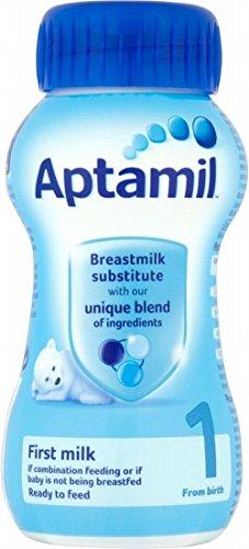 Aptamil Première Infant Milk Ready Made dès la naissance Étape 1 (200ml) - Paquet de 6