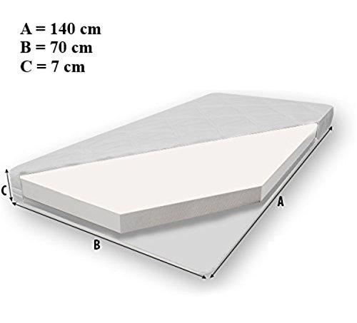 """Kinderbett """"Fee"""" Bett für ein Kind, Größe 140×70, mit einer Matratze, einer Schublade und einem schützenden Geländer - 3"""