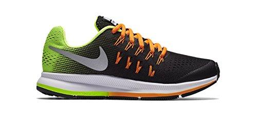 Nike Zoom Pegasus 33 (Gs), Scarpe da Corsa Bambino black / metallic silver-vlt-ttl orange