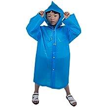 Kinder Regenjacke, Samber Regenponcho Wasserdichte Regenmantel mit Kapuze für Unisex Jungen Mädchen