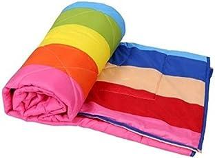 Handicraftworld Anti-Pilling Super Soft Rainbow Print Single Bed Microfiber AC Dohar/Summer Blanket (Set of 1)(85 x 55 inches)-Multicolor