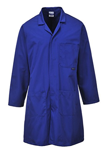Portwest Hygiene & Warehouse Coat Multiple-pockets Vented Extra Large Navy Ref 2852XLGE Nvy Real