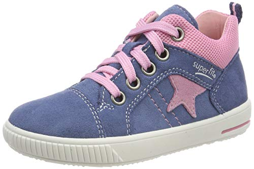 Superfit Baby Mädchen Moppy Sneaker, (Blau 81), 19 EU