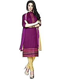 LAVIS Women's Cotton Dress Material (Ranisak115_Free Size_Pink)