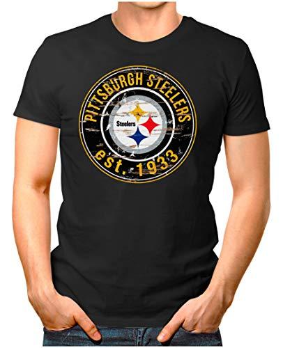 adge - T-Shirt | Herren | American Football Shirt | XL, Schwarz ()