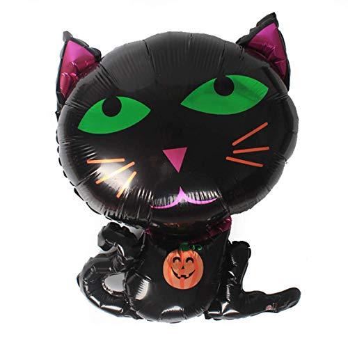 Persönlichkeit Urlaub Nette Schwarze Katze Aluminiumfolie Luftballons Lächelndes -