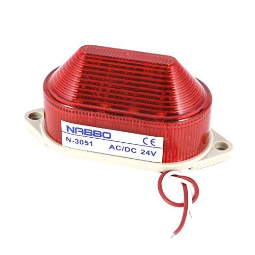 sourcingmap® Industrial DC 24 V Red LED Strobe Warnlampe Mini-Tower, (Strobe Light Alarm)