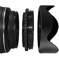 SHOPEE 55mm Lens Hood Screw Mount Petal Crown Flower Shape for SONY ALPHA 18-55MM LENS