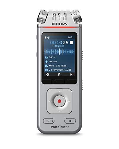 Philips VoiceTracer DVT4110, Registratore audio, Per conferenze e interviste, 3 microfoni ad alta fedeltà