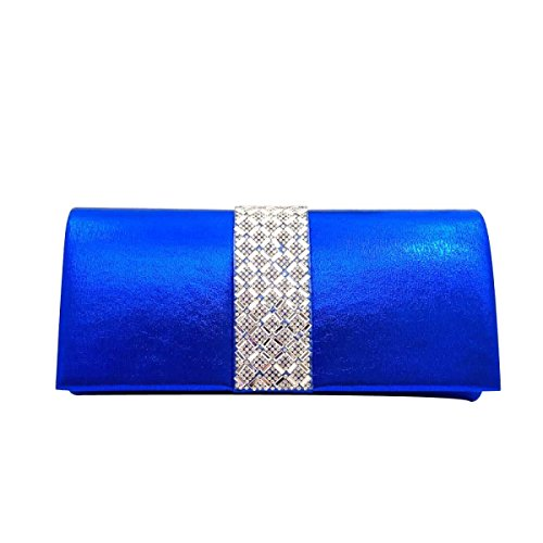 Borsa Diamante Evening Bag Diamante Bridal Delle Donne Blue