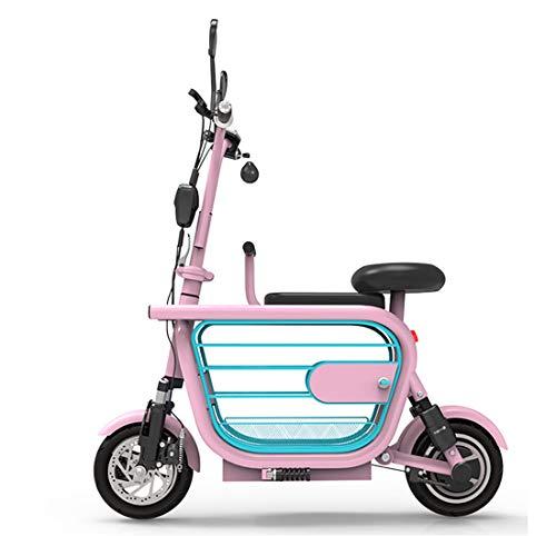 Creing Elektrischer Roller E-Scooter Faltbarer Power Scooter Mit Sitz Elektroroller StraßEnzulassung Cityroller 25 Km/h,pink