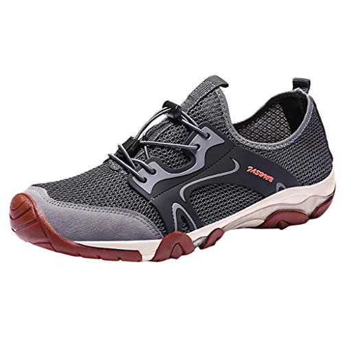 Loxmy Herren Schuh, Menner Outdoor Mesh Casual Sport Hohl Schuhe Atmungsaktiv Bergsteigen Turnschuhe für Herren Watschuhe Sport Schuh Trekking Sandals Leisure Trainers