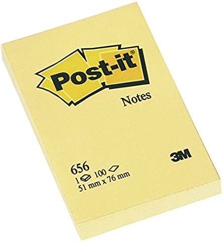Post-it Notes - Canary Pastel Yellow - 12 Pads Per Pack - 100 Sheets Per Pack -  51 mm x 76 mm