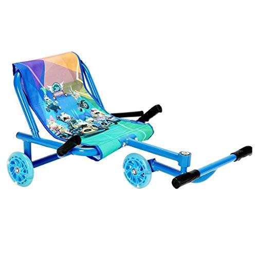 Roller Kinderschaukel Auto Fuß Stepper Auto Kinderschaukel Kart (Color : Blue)