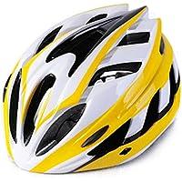 MAXTK Casco de Bicicleta para Hombre y Mujer, Casco de equitación, Rueda de Carretera, Casco Deslizante, orangewhite