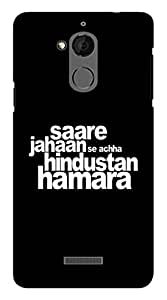 Blutec Saare Jahaan Se Achha Design 3D Printed Hard Back Case Cover for Coolpad Note 5