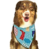Hipiyoled Regen Tag Regenbekleidung Pet Bandana Triangle Lätzchen Schals Accessoires 27.6x11.8 Zoll