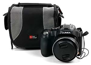 Sacoche de protection à multiples poches + lanière de transport pour appareil photo Panasonic Lumix DMC-FZ72 et DMC-LZ30E - DURAGADGET