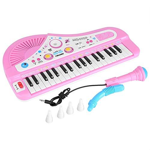Fdit Kinder Klavier, Elektronische Keyboard mit Mikrofon 37Tasten Multifunktions-Musik Spielzeug Geschenk für Kinder Kinder Babys Anfänger
