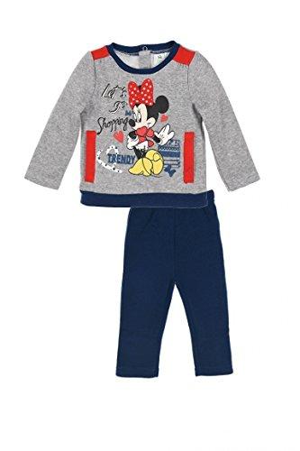 Disney Minnie Maus Jogging Anzug mit Druckknöpfen Grau 18 Monate