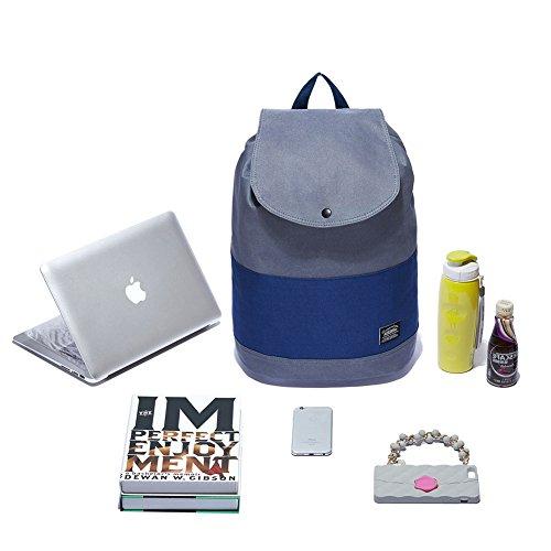 KAUKKO Incredibile Zaino Donna Casual per Laptop, Portatile per Attività all'Aria aperta e Sport , Grigio Khaki con grigio