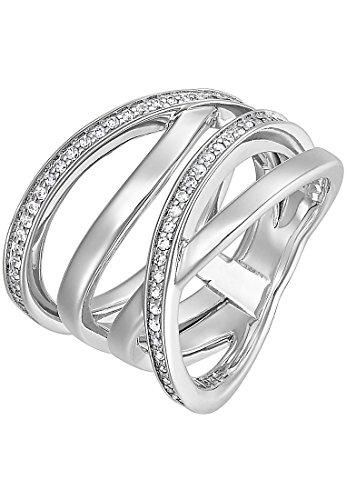 JETTE Silver Damen-Ring Silber 54 Zirkonia silber, 57 (18.1)