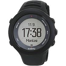 Suunto, AMBIT3 SPORT HR, Reloj GPS Unisex Multisport, 15 h Duración de la batería, Monitor frecuencia cardiaca + Cinturón de frecuencia cardiaca (Talla: M), Sumergible hasta 50 m, Negro, SS020678000