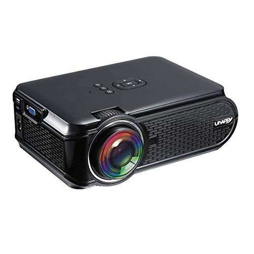 Beamer unterstützt 1080P Full HD,CamKing U90 1500 Lumen Projektor für Heimkino Videobeamer mit HDMI VGA SD USB AV Gerät Smartphone Heimkino