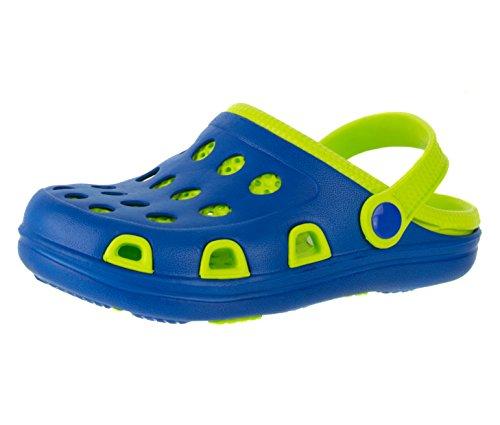 Beppi Kinder-Clogs Jungen- Oder Damenschuhe   Kinderschuhe Strandschuhe Badeschuhe Schuhe   Farbe: Grün   Größe: 38