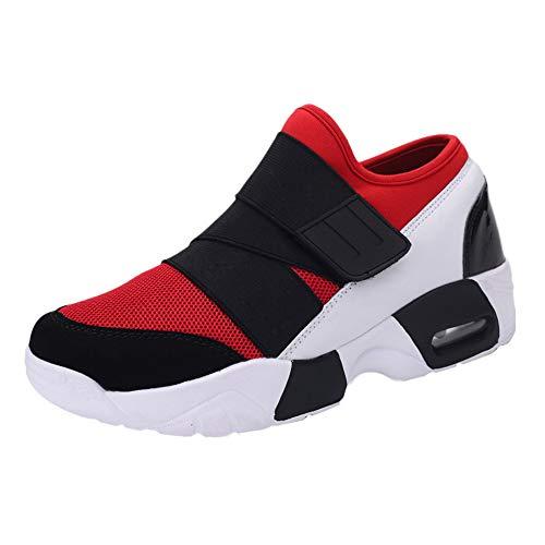 Amlaiworld Schuhe Herren Sneaker, Herren für Erwachsene Tennis Laufschuhe leichte atmungsaktive Turnschuhe Laufschuhe (Für Erwachsene Fashion Flapper Kostüm Rot)