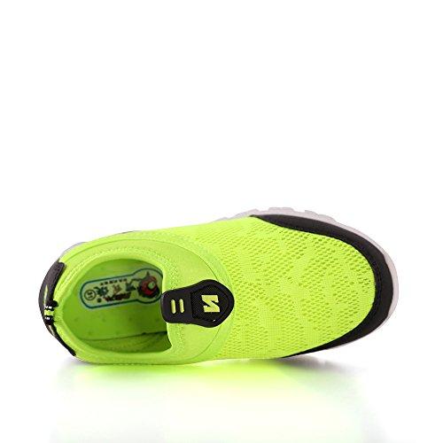 IDEA FRAMES Kinder Casual Schuhe Fashion Sneaker für Kinder Fluoreszierende grün
