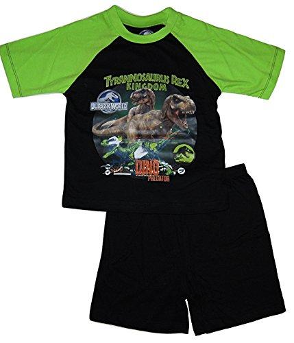 Image of Boys Pyjamas PJs Short Jurassic World Dinosaur 3-4 5-6 7-8 9-10 Years (5-6 Years)