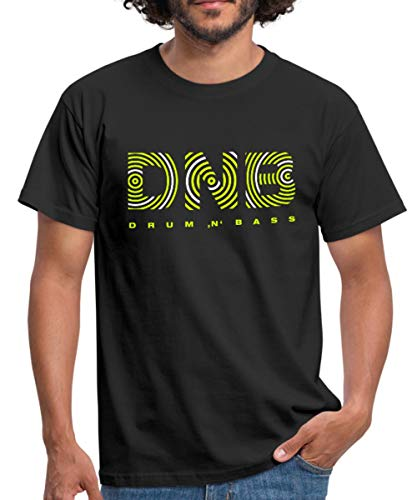 Spreadshirt Drum and Bass Männer T-Shirt, XL, Schwarz