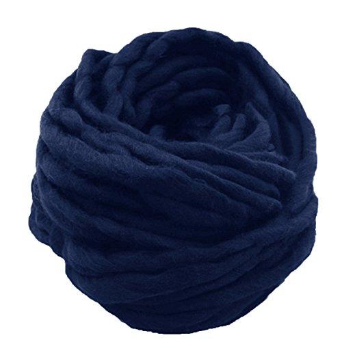 1 Strang Dicken Sperrige Klobig aus Weicher Baumwolle Superfine Faser Garn Hand Stricken Häkeln Weben Teppich Machen Baumwollgarn Blau - Seide Stricken Tasche
