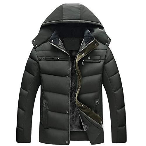 Beixundianzi leggero giacca invernale da uomo giacche sportive e tecniche da uomo giacca giacche mezza stagione da uomo con collo alto army green 4xl