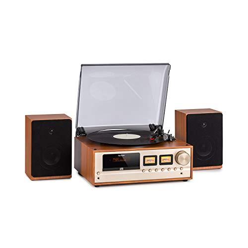 Auna Oxford Equipo estéreo Retro - Sintonizador Radio