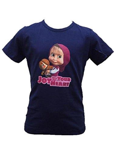T-shirt maglietta Bimba Masha e Orso *21195 Maglia Manica Corta-5 anni-2