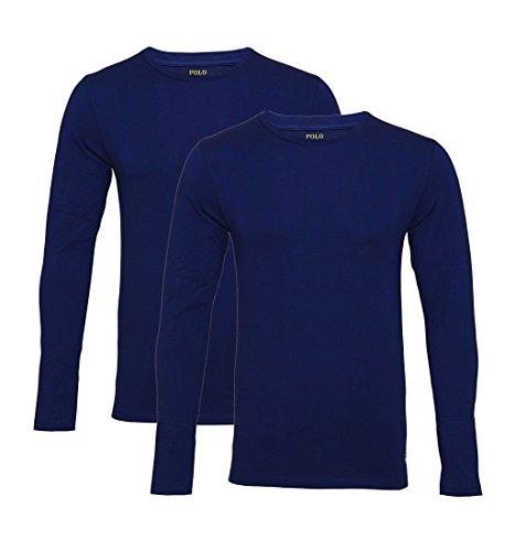 Ralph Lauren Longsleeve 2er Pack Jersey Knit NAVY/CRUISE NAVY SH17-RLL1 Size M (Lauren Ralph Oberbekleidung)