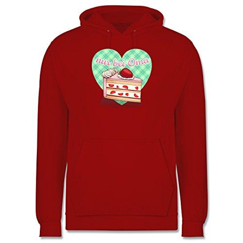 Statement Shirts - Nur bei Oma - Kuchen - Männer Premium Kapuzenpullover / Hoodie Rot