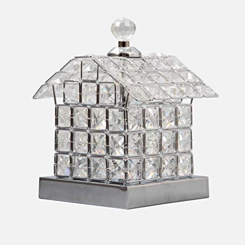 Kristall Tischlampe Schlafzimmer Nachttischlampe Prinzessin kleine Tischlampe Haus Nachtlicht Plug in (Farbe : Silber-Remote control) - Prinzessin Beistelltisch