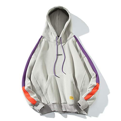 Preisvergleich Produktbild Men es Hooded Trend Sweater,  Plus Velvet Stringed Neutral Wind Loose Jacket, XXL