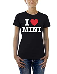 Touchlines Damen T-Shirt I love Mini, black, S, TL242