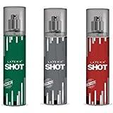 LAYERR SHOT POWER PLAY FRAGRANT BODY SPRAY + LAYERR SHOT ROYAL JADE FRAGRANT BODY SPRAY + LAYERR SHOT RED STALLION...