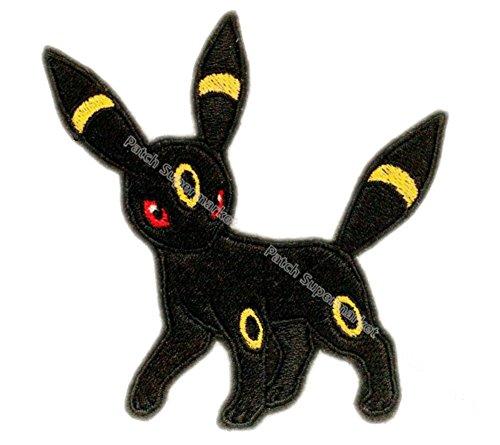 J & C Family OWNED Anwendung Pokemon umbreontheme Cosplay Aufnäher Patch Tolles Geschenk für Partys, Dekoration. oder Sammeln. (Jason's Freundin Kostüm)