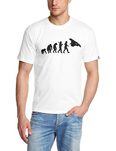 Shirtzshop Erwachsene T-Shirt Original Snowboard Evolution, Weiß, L, sshop-snowevo-t