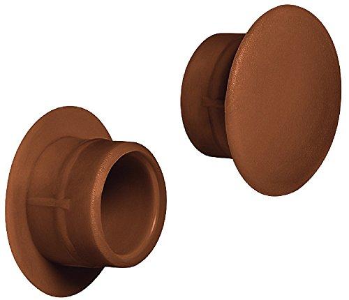 Gedotec Möbel-Abdeckkappen braun Schrauben-Abdeckungen Kunststoff Schrauben-Kappen rund - H1117   Ø 12 mm   für Blindbohrung   100 Stück