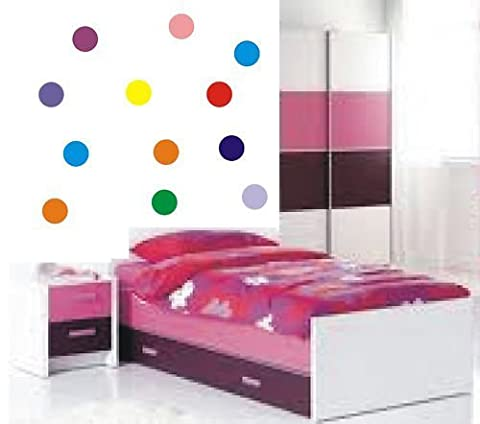 Polka Dots/Circle Vinyl sticker 24 x 100mm! Any colour! by